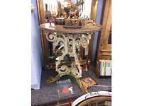 Vintage antique cast iron table original