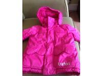 Girls pink ski jacket