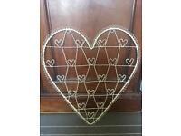 Shabby chic heart photo display / holder