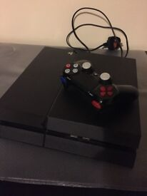 EXCELLENT CONDITION PS4 500gb AND COSTUME CONTROLLER