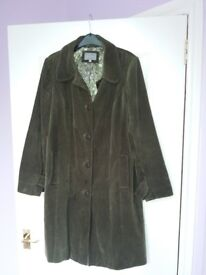 M&S green coat size 16