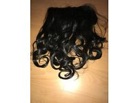 Black Clip In Curly 18 inch hair extension
