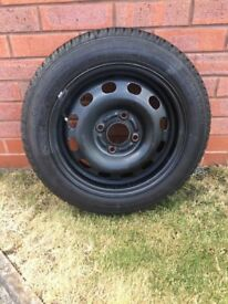 Wheel and trye in good condition.