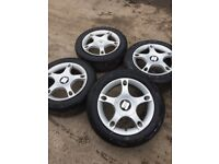 GENUINE SEAT LEON SET OF ALLOY WHEELS AND TYRES