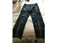Tiger London Multi Tartan Zip Trousers