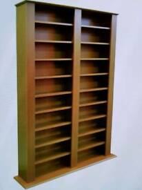 Maximus oak CD and DVD media storage unit as new