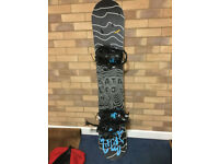 Bataleon snowboard (triple base technology) + bindings + snowboard bag