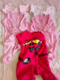 Bundle of 7 baby grows for new born