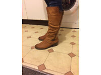 Ladies Rieker Casual Knee High Boots