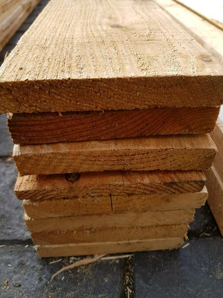 Thermo treated timber planks