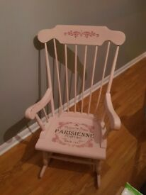 Pink solid Rocking Chair
