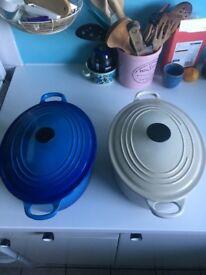 Le Creuset Vintage Oval Casserole Blue
