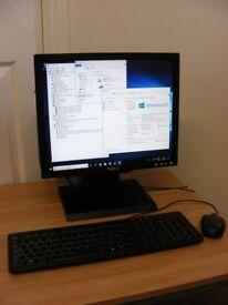 Dell AIO Style Desktop USFF Tower Intel i5 250GB Hard Drive 4GB RAM 17 inch Monitor