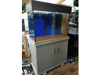 Clearseal marine aquarium with sump