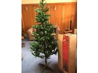 USED ONCE AS NEW 7ft Artificial Christmas Tree (Green Fir Traditional Style)