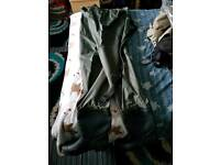 2 fly fishing waders