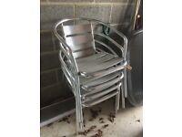 Metal bistro style garden/patio chairs x 4 – £20