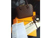 louis vuitton Alma MM designer handbag lv monogram print with all accessories and original paperwork