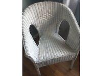 Rattan Tub Chair - White