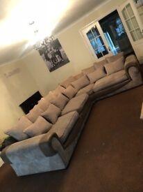 Large corner sofa beige