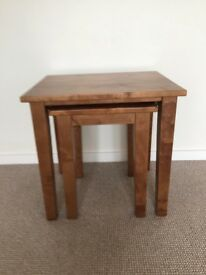LAURA ASHLEY GARRAT HONEY NEST OF TWO TABLES