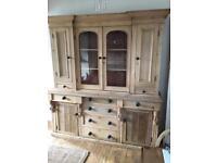 Gorgeous Victorian stripped pine glazed dresser