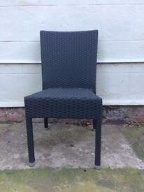 bolero style wicker chairs x 14 in total