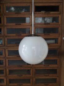 4 Opaline Globe Church Pendant Glass Lights Light Vintage Industrial Antique Milk Glass