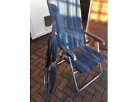 Camping chairs rust proof aluminium recliner
