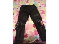 Alpine Stars Black Missile Leather Motorcycle Trousers - Like New - Superb Condition - £125