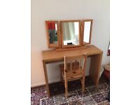 Dressing Table With Mirror & Chair