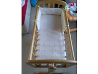 Baby Crib ( by John Lewis ) with Bumpers ( by Babies r us )