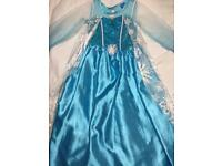 Frozen dress and crown 6/7 age