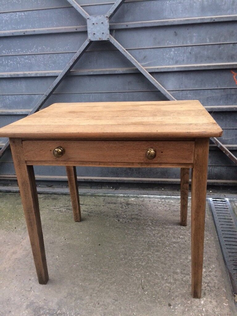 Small old oak table