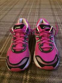 Asics Running Trainers, Size 7, Bright Pink
