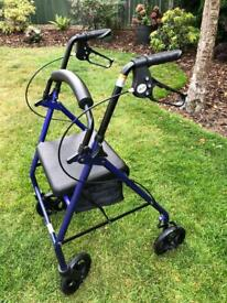 Mobility Walker, 4 wheel with Brakes and Seat