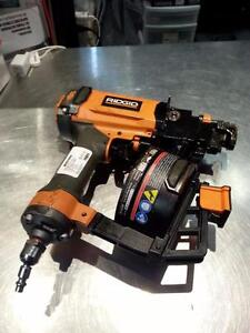 Ridgid 3/4 Coil Roofing Nailer, We Sell Used Air Tools, Get A Deal (#31574)