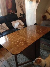 Drop Leaf Table with stag design- Open to Offers