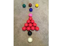 48mm sized snooker balls