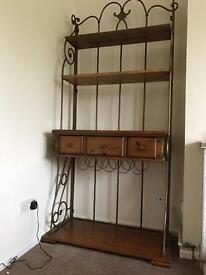 Bookcase display unit with wine rack