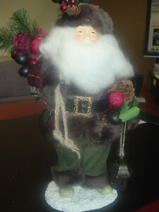 CHRISTMAS JOLY OLD SANTA DISPLAY DECORE ORNAMENT