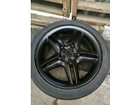 Set of 4 black 5x100 17inch wheels.