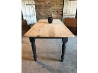 Rustic farmhouse kitchen dining table 6 deater