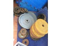 Weight plates 7.5kg 5kg 2.5kg etc