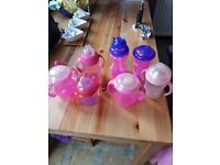 Various baby sippy cups