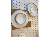 White bone china 8 place crockery set