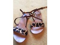 Clarks leather flat sandals