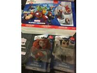 PS3 Disney infinity 2.0 starter park and two extra figures, all brand new