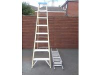 Fibre glass electrical step ladders £30