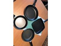 3 x Frying Pans, 1 x Griddle